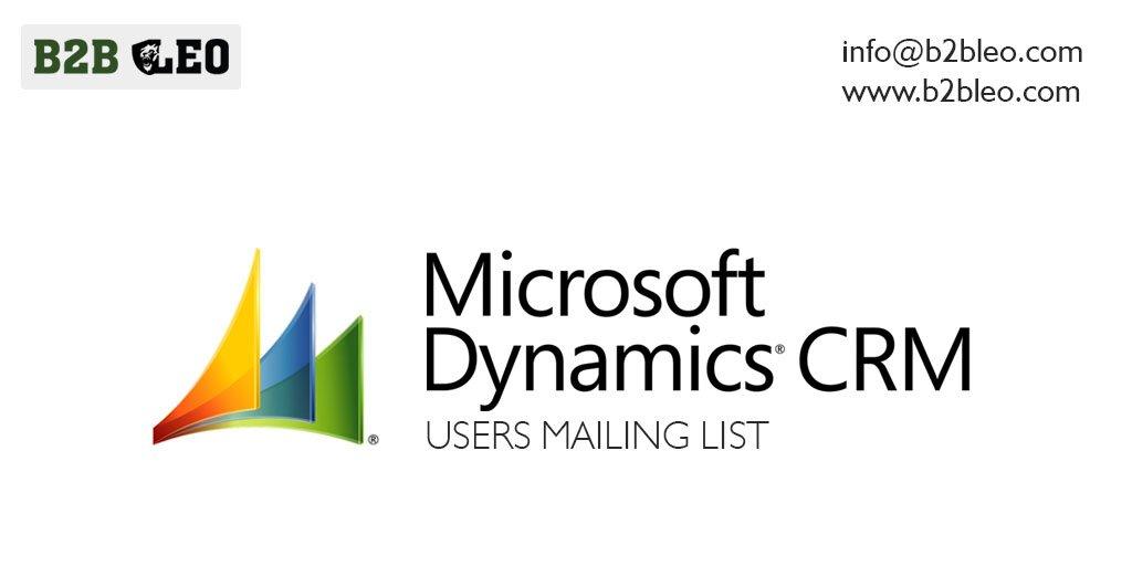 Microsoft Dynamics CRM Users Mailing List-B2B Leo   B2B