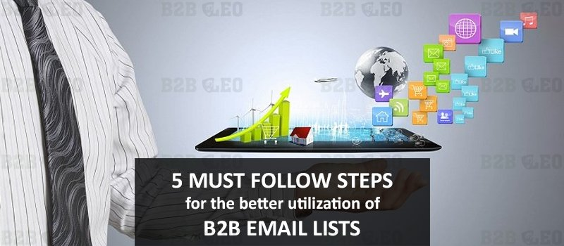 5 Must follow Steps for the better utilization of B2B Email Lists